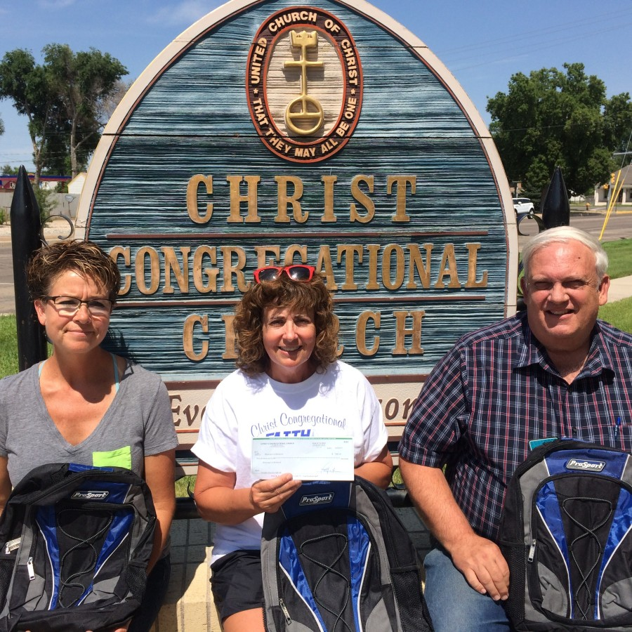 Blessings in a Backpack receives $1500 from Christ Congregational of Ft. Morgan image