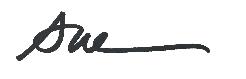 Sue Signature