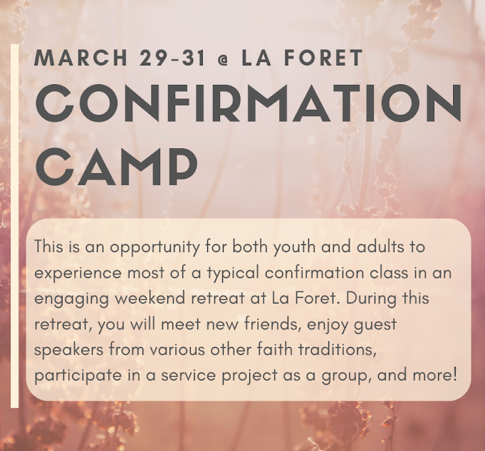 Register for Confirmation Camp Today! image
