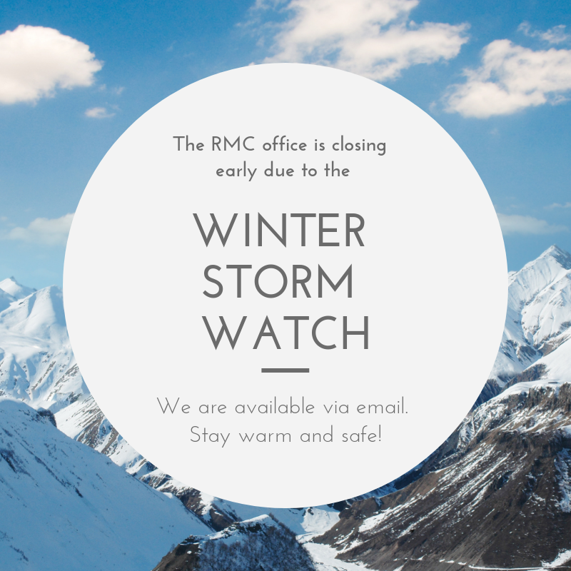RMC Office Closes Early Due to Winter Storm image