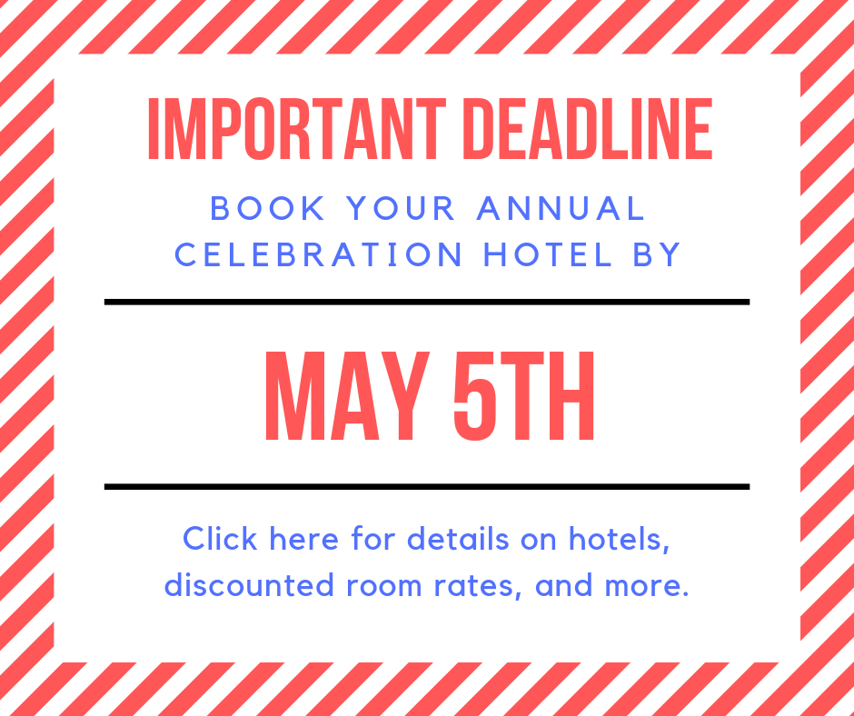 Book your Annual Celebration hotel TODAY! image