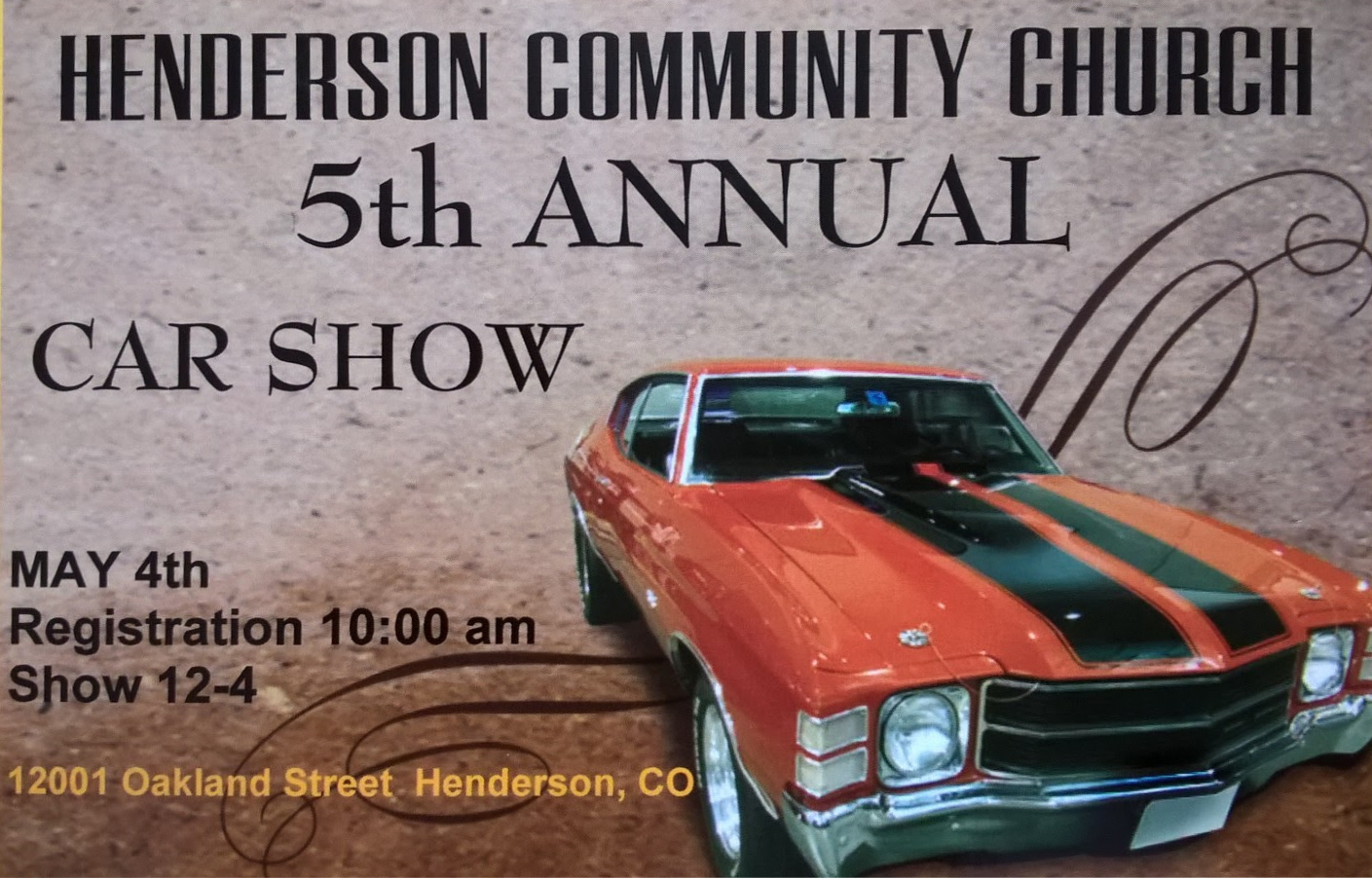 Car Show This Saturday! image