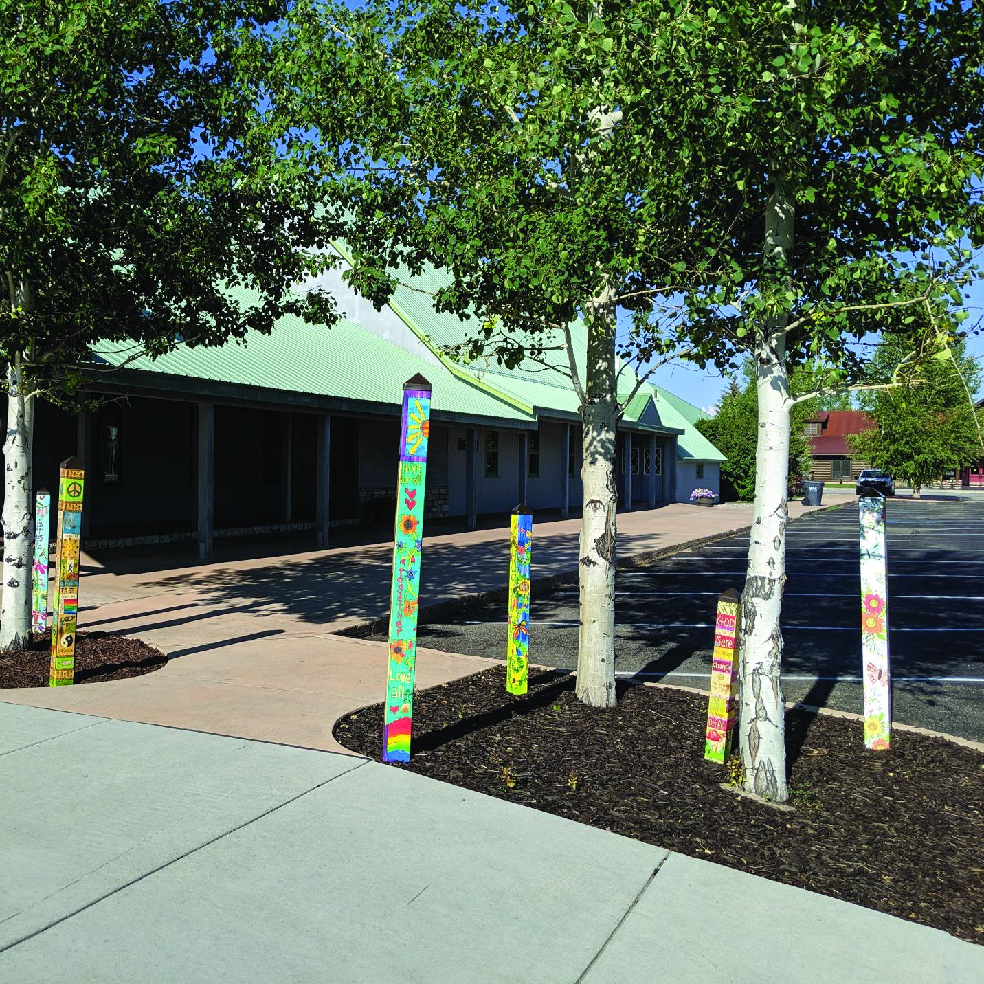 Pinedale Community UCC Dedicates Seven Peace Poles image