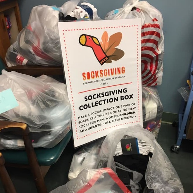 First Plymouth Congregational Church UCC in Denver collected 1,217 pairs of socks in the 2019 Socksgiving Sunday Campaign. image