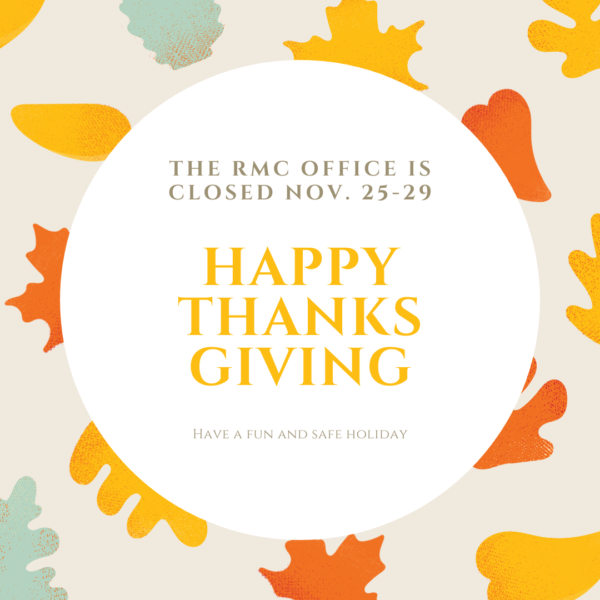 RMC Office is Closed for Thanksgiving image