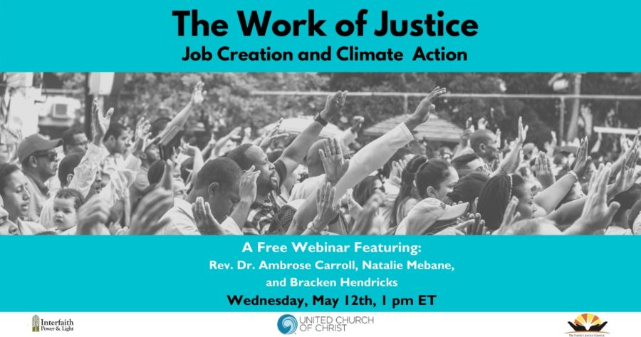 The Work of Justice: Job Creation and Climate Action Webinar image