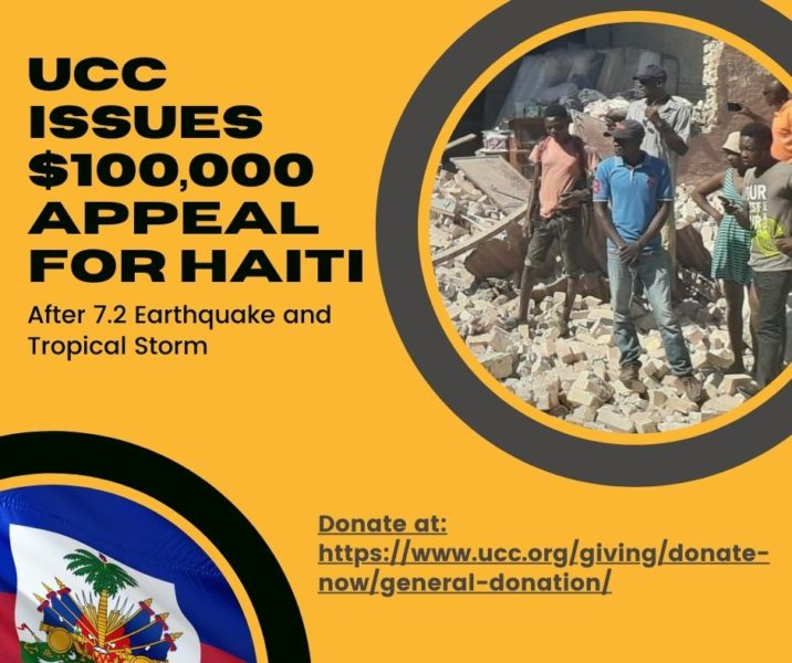 UCC Issues $100,000 Appeal for Haiti After 7.2 Earthquake and Tropical Storm image